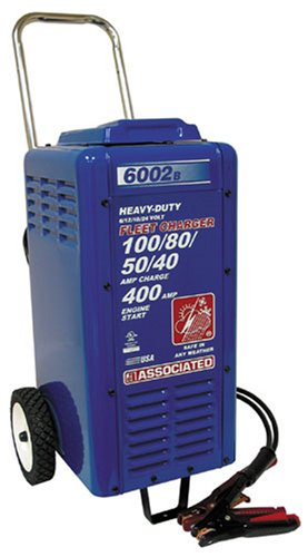 (Associated Equipments 6002B 6/12/18/24V 100/80/50/40 Amp 400 Amp Charger Cranking Assist with Wheels)