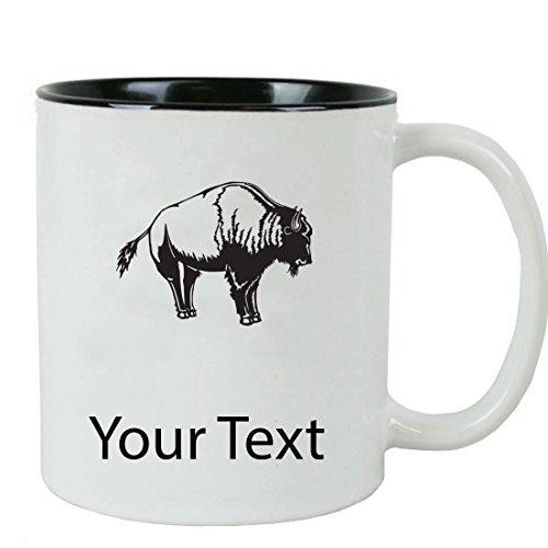 Personalized Custom Buffalo 11 oz White Ceramic Coffee Mug with White Gift Box