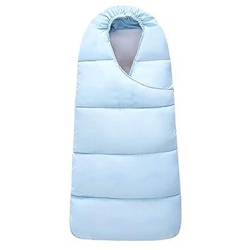 LLX Saco De Dormir De Bebé Puro con Cremallera Cochecito De Dormir Sleep Bag Anti-Patada Bebé Edredón,Diseño A Prueba De Viento Y Humedad,Lightblue-L: ...