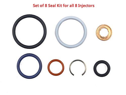 DEF AP0002 G2.8 Injector Seal Kit for Ford Powerstroke 4.5L LCF 2006-2010 6.0L 2003-2010 6.0L Navistar 2002.5-2010 3C3Z9229AA CM5055 1843682C91 (Set of ()