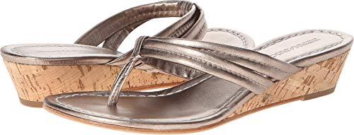 Bernardo Women's Miami Wedge Sandal,Platinum Calf,5.5 M US