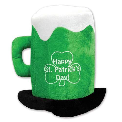 Beistle 30712 Plush St.Patrick's Day Beer Mug Hat -