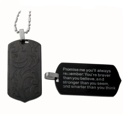 R.H. Jewelry Stainless Steel Black Pendant ()