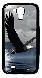 3D Eagle Custom Designer Samsung Galaxy S4 SIV I9500 Case Cover - Polycarbonate - Black