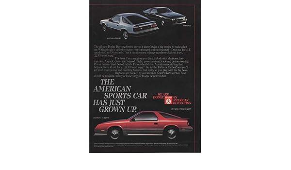 Amazon.com: Magazine Print Ad: 1984 Red Dodge Daytona Turbo Z,