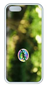 online cases Soap Bubble Outdoor TPU White Case for iphone 5/5S