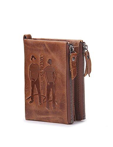 men-genuine-leather-cowhide-zip-wallet-vintage-bifold-with-double-zipper-pockets-brown-1
