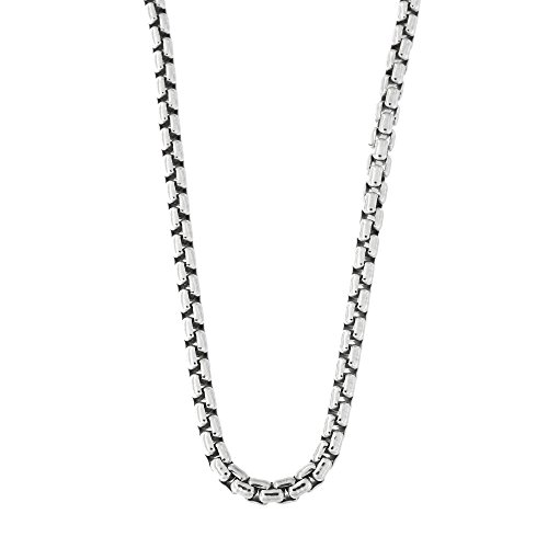 r 3 mm thick Round Box Chain Necklace 18