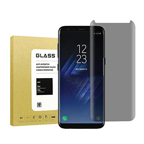 for Galaxy S8 Screen Protector Privacy Anti-Spy,ZzzBuoo[9H Hardness][Easy to Install] Privacy Anti-Peep Tempered Glass Screen Protector for Samsung Galaxy S8 (Balck)