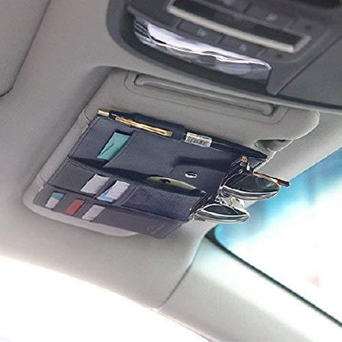 F/ührerschein und Sonnenbrille Kreditkarten Westeng Multifunktions Auto KFZ Kartenhalter Organizer Gl/äser Karten Sonnenbrille Halter f/ür Tickets