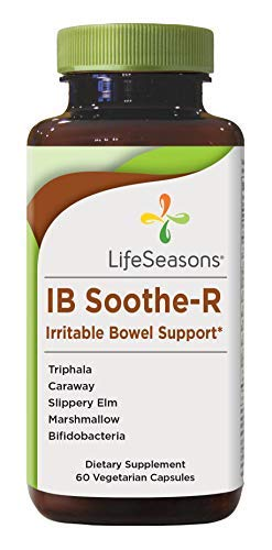IB Soothe-R - Irritable Bowel Support Supplement with Bifidobacterium Probiotic - Digestion Support, Helps Manage Diarrhea, Constipation, Abdominal Discomfort - LifeSeasons (60 Capsules)