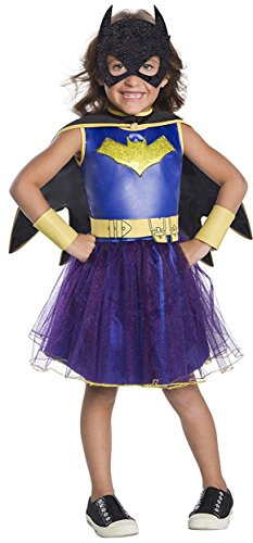 Baby And Toddler Batgirl Costumes (Rubie's Costume DC Comics Deluxe Batgirl Costume, X-Small, Multicolor)