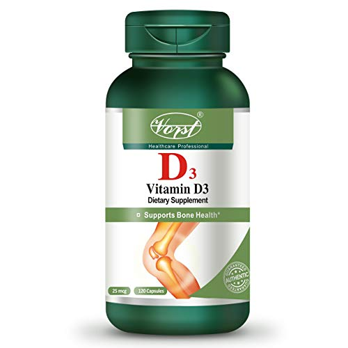 Vorst Vitamin D3 25mcg (1000 IU) 120 Capsules Bone and Dental Health Supplement Mood Balance Keto & Paleo Friendly