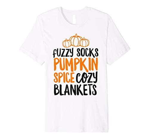 Fuzzy Socks Pumpkin Spice Cozy Blankets Shirt Fall