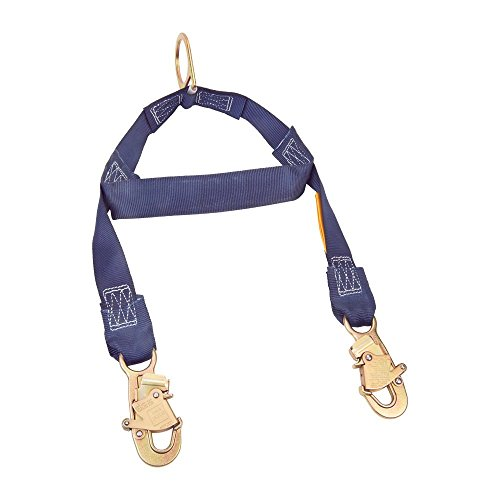 Spreader End - 3M DBI-SALA 1231460 Rescue/Retrieval Y-Lanyard, 2' with Spreader Bar, D-Ring At Center and Snap Hooks At Leg Ends, Navy