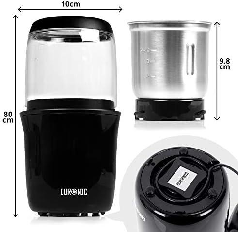 Duronic CG250 Molinillo de café eléctrico 250W y capacidad de 75g ...