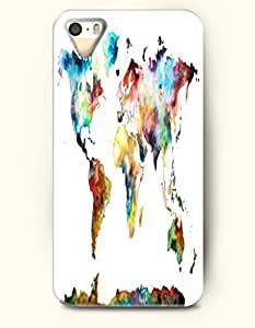 OOFIT Phone Case for Apple iPhone 4/4S -- The Map Of The World -- Oil Painting