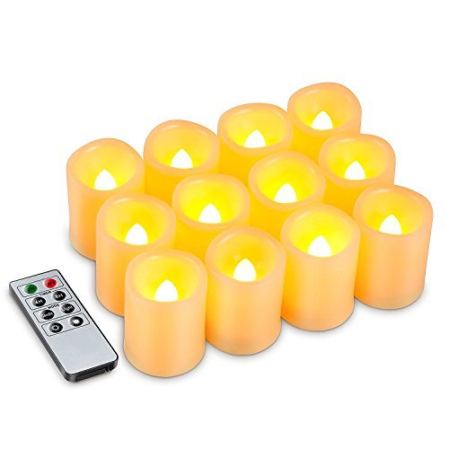 Kohree Flameless Battery Operated LED Pi - Ivory Outdoor Pillar Candles Shopping Results