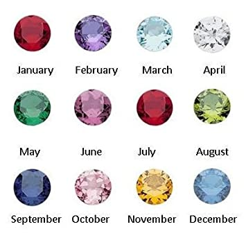 12PC Crystal Round Birthstones Floating Charms 4mm PEPPERLONELY Brand
