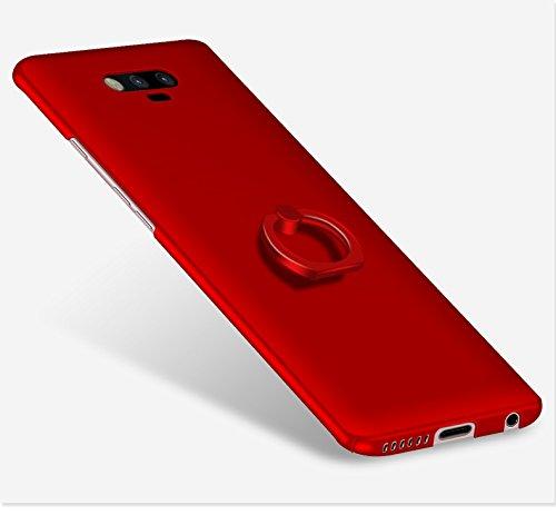 Huawei Honor Magic Funda , color sólido, estilo sencillo,Alta Calidad Ultra Slim Anti-Rasguño y Resistente Huellas Dactilares Totalmente Protectora Caso de Plástico Duro Cover Case+stand holder-RG21 B