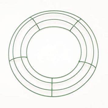 Amazon.com: Royalty Essentials 10 Inch Metal Wire Wreath Frame Form Hanger Green 10 Inch Pack of 10: Home & Kitchen