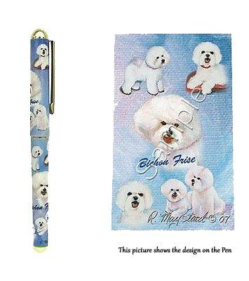 Bichon Frisé - Don de chien. Magnifique stylo Roller. Pens