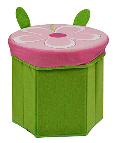 Storage Ottoman Collapsible Foldable Foot Rest Cartoon Storag Ottoman GREEN by Panda Superstore