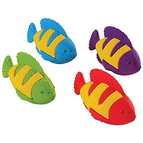Assorted Color Tropical Clown Fish Erasers (12) - Fish Eraser