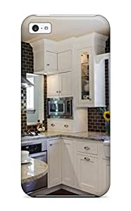 Quality BrewerEdward Case Cover With White Kitchen Cabinetry With Brown Glass Subway Tile In Contemporary Kitchen Nice Appearance Compatible With Iphone 5c