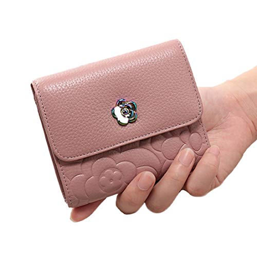 Id Sac Fleur De En B Petit Package Décoration Zero B color Lindanig Pink Cuir Main Métal À Mini Forme Wallet gW4d8wxq7w