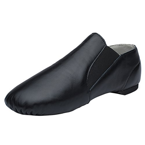 CIOR Leather Jazz Dance Shoes Slip-On(Women/Toddler/Little Kid/Big Kid/Men) DNDJS,Black,32