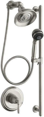 KOHLER K-10825-4-BN Devonshire Essentials Performance Showering Package, Vibrant Brushed Nickel (Showerhead Shower Devonshire Accessory)