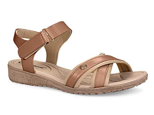 Sandália Campesi Feminino Velcro Castor Claro 33