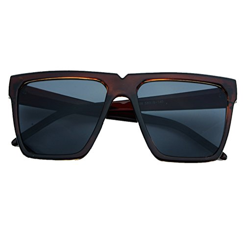Large Retro Fashion Glasses Oversized Square Flat Top Sunglasses - Where Were Invented Sunglasses