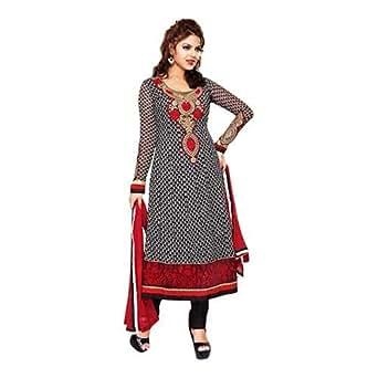 ClickonStyle Black Festive Kameez & Salwar Set For Women