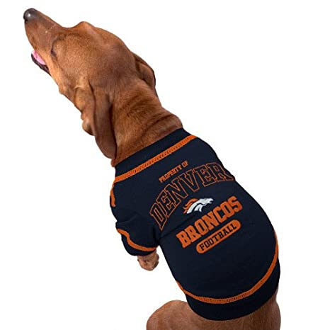 finest selection be389 7f4d2 DENVER BRONCOS Dog T-Shirt, Small. - Cutest Pet Tee Shirt for the real  sporty pup