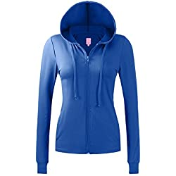 Regna X NO Bother Womens Sports Slim fit Soft Fitness Full Zip up Hoodie Jacket