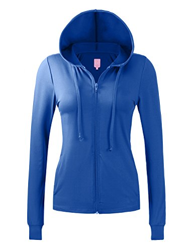 Regna X NO Bother Womens Performance Active Athletic Full Zip up Hooded Jacket