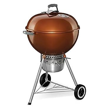Weber 14402001 Original Kettle Premium Charcoal Grill, 22, Copper