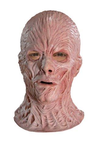 Rubie's Costume A Nightmare On Elm Street Deluxe Freddy Krueger Overhead Latex Mask, Brown, One (Scary Freddy Krueger Costume)