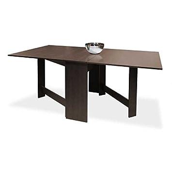 Muebles Baratos Mesa de Comedor con Alas Color Wengue Rectangular ...