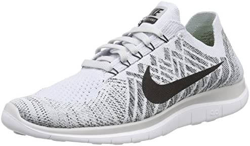 aed548a597c3 Nike Mens Free 4.0 Flyknit Running Shoes Pure Platinum Blk White Cl Gry 12  D(M) US  Buy Online at Low Prices in India - Amazon.in
