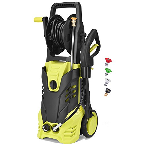 LittleBoys Electric Power Pressure Washer, 2030 PSI 1.7GPM High Pressure Washer Cleaner Machine with Hose Reel & Spray Gun & Nozzles and Built in Soap/Foam Dispenser
