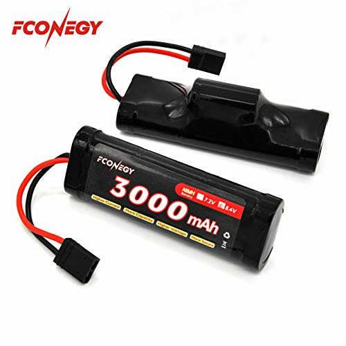 Fconegy NiMH Battery 8.4V 3000mAh 7-Cell Hump Pack with Traxxas Plug for RC Cars, RC Truck(RC Hobby) (Rc Summit Truck)