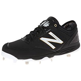 New Balance Men's MBB Minimus Low Baseball Shoe,Black/White,16 D US