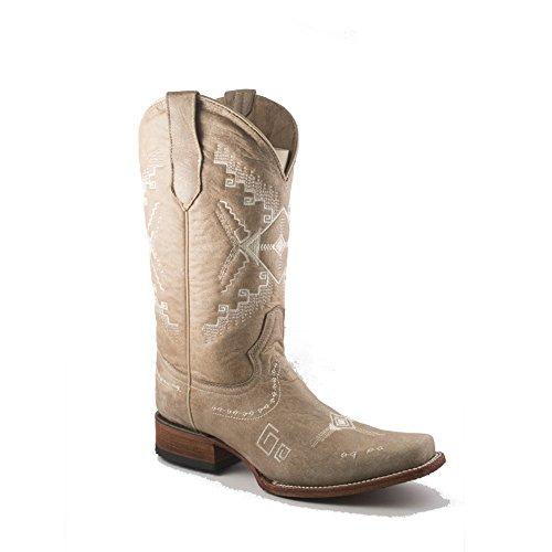 Cerchio G Corral Womens L5330 Western Boot Sand Ricamo Etnico