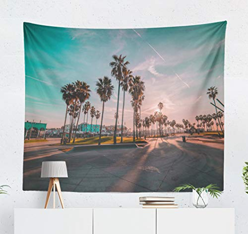 - Kutita Tapestry Wall Hanging Beach Venice California City Landscape Architecture Beautiful Beauty Wall Tapestry Home Decorations for Bedroom Living Room Dorm Decor in 60