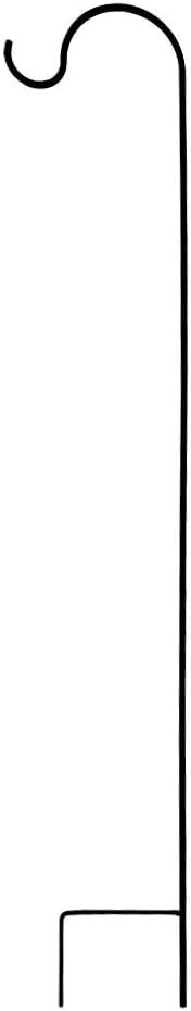 WAJJ Shepherd Hook 63 Inch Tall 2//5in Thick Solar Bird Feeder Pole Garden Hanging Plants Basket Hanger Pathway Light Solar Lantern Mason Jar Wind Chime Wedding Metal Rust Resistant Heavy Duty