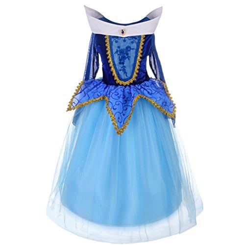 Dressy Daisy Girls' Sleeping Beauty Princess Aurora Costume Fancy Party Dresses Size 6 / 6X -