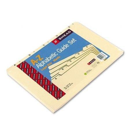 Smead 52176 Manila Guides With Alphabetic Indexed Sets - Printeda - Z - 5 Tab[s]/set - 8.50 X 14 - 5 / Set - Manila Divider (SMD52176) WLM ()